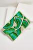 Embellished Palm Leaf Clutch