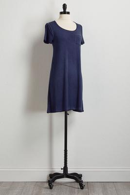 navy faded wash t-shirt dress