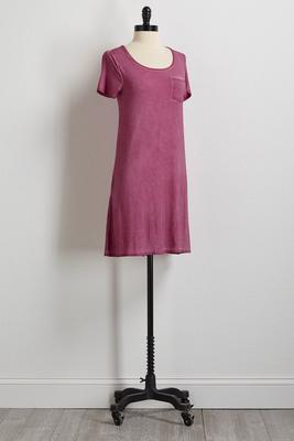 purple faded wash t-shirt dress