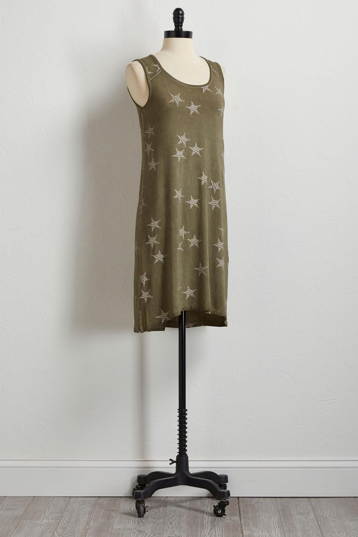 Striped Star Tank Dress