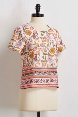 crepe floral top