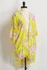Yellow Floral High- Low Kimono