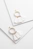 Tasseled Pearl Hoop Earrings
