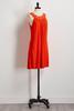 Orange Floral Crochet Dress