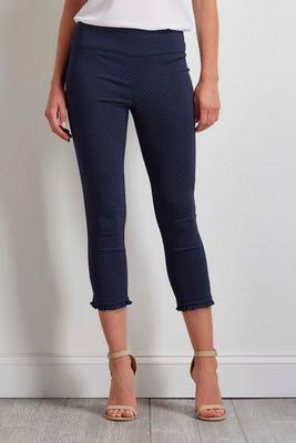 polka dot cropped pull-on pants
