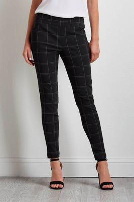grid bengaline ankle pants