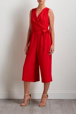 cropped side tie jumpsuit