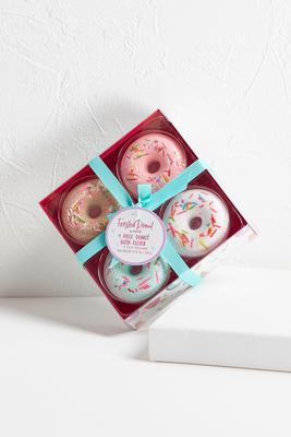 donut bath fizzer set