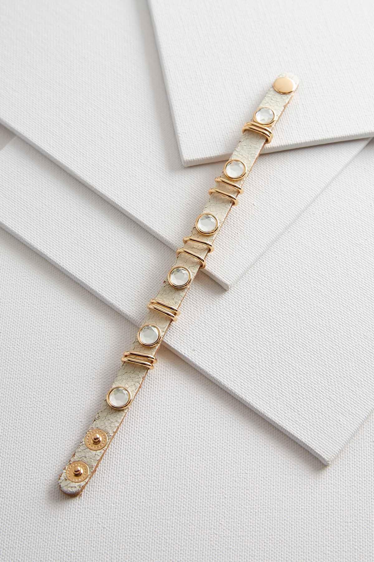 Crackeled Faux Leather Bracelet