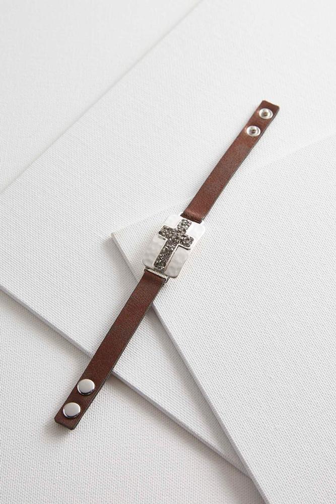Crushed Stone Cross Bracelet