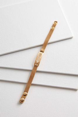 arrow bar faux leather bracelet
