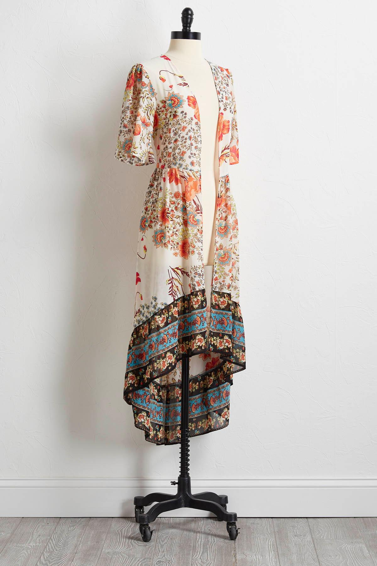 Floral High- Low Duster
