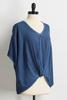 Mineral Wash Knotted Front Top