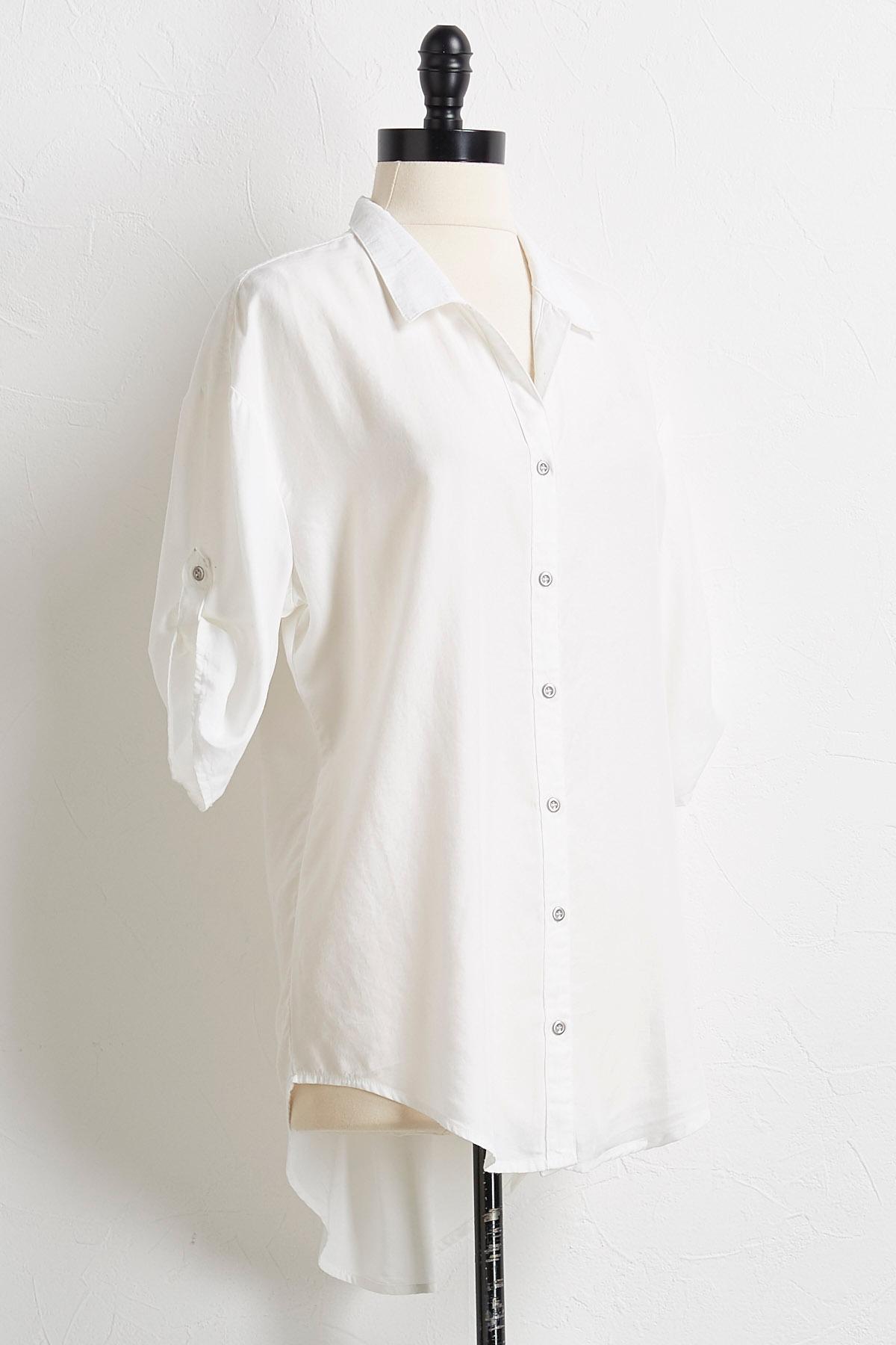 White Chambray Tunic