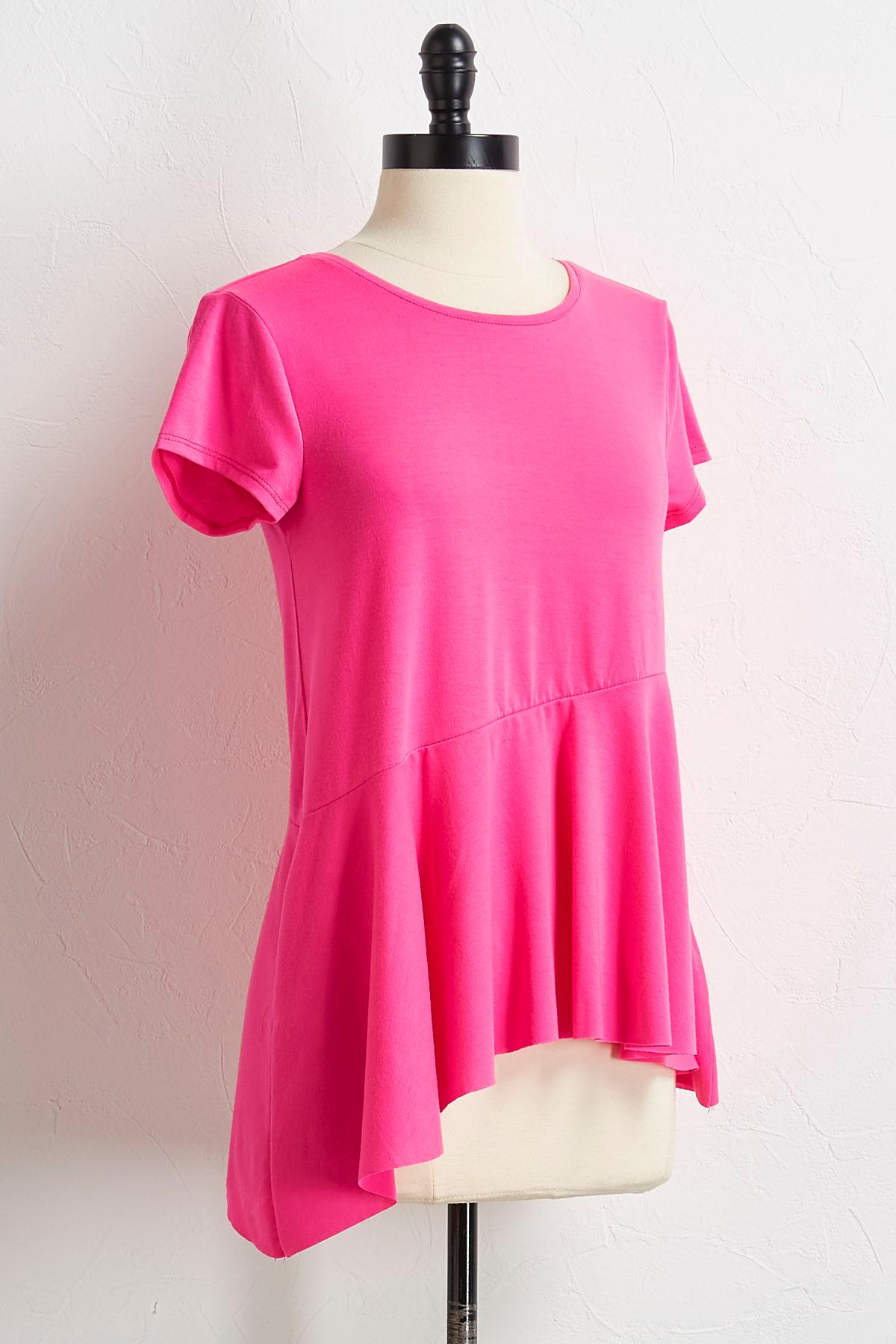 Hot Pink Asymmetrical Top