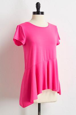 hot pink asymmetrical top