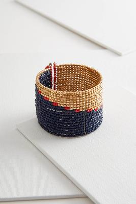 colorblock beaded cuff bracelet