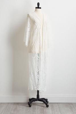 lace duster kimono