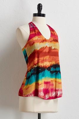 tie dye rainbow tank