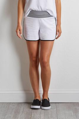 stripe trim athleisure shorts s