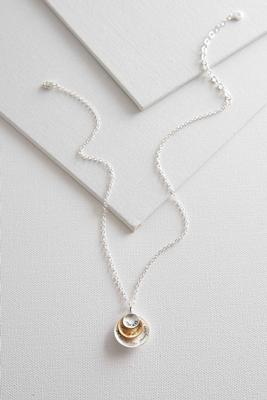 two-toned inspirational pendant necklace