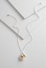 Two- Toned Inspirational Pendant Necklace