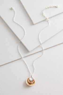 two-toned be still pendant necklace