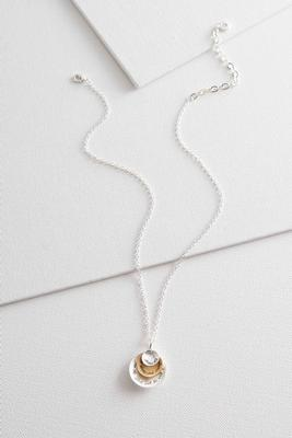 two-toned be strong pendant necklace