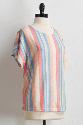 soft multi stripe tank