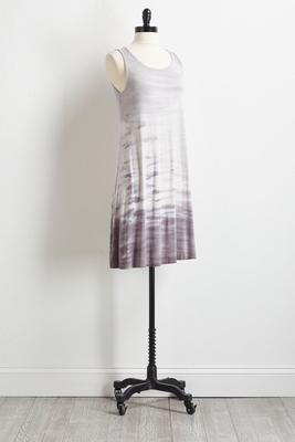 gray tie dye t-shirt dress