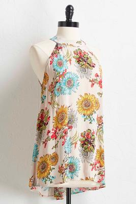 sunflower halter tunic