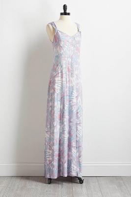 mauve tie dye maxi dress