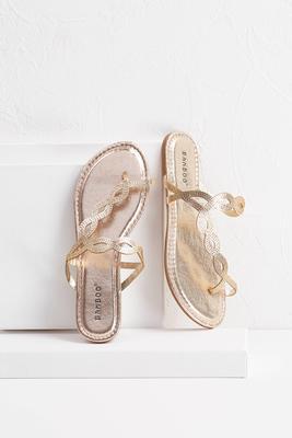 glitter toe ring sandals