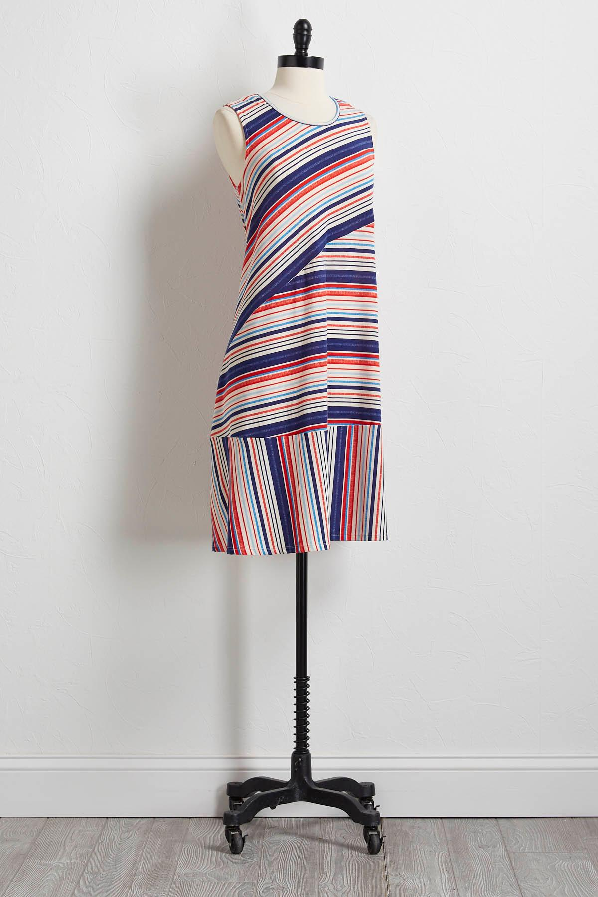 Mixed Stripe T- Shirt Dress