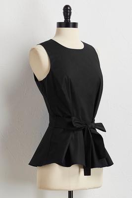 bowed peplum top