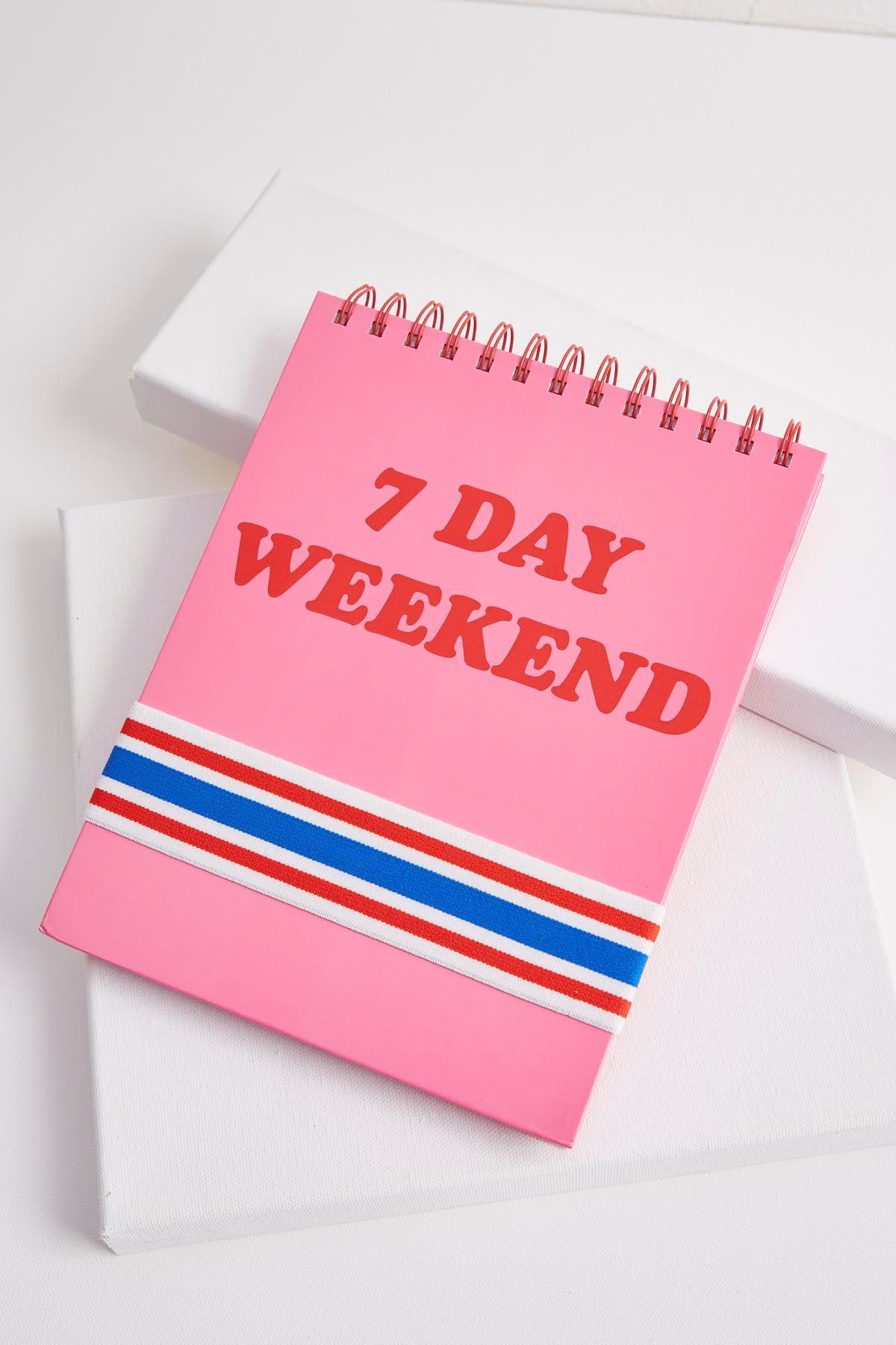7 Day Weekend Spiral Notebook