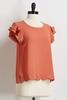 Scalloped Hem Top