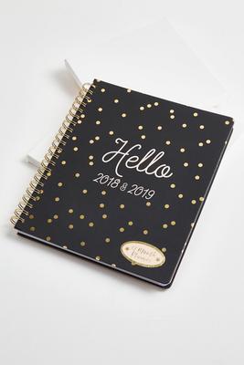 polka dot monthly planner agenda