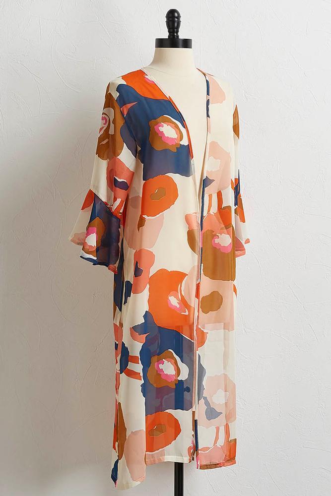 Breezy Blossom Duster Kimono