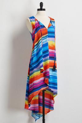 rainbow high-low tunic