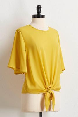 yellow tie waist top