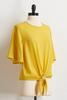 Yellow Tie Waist Top