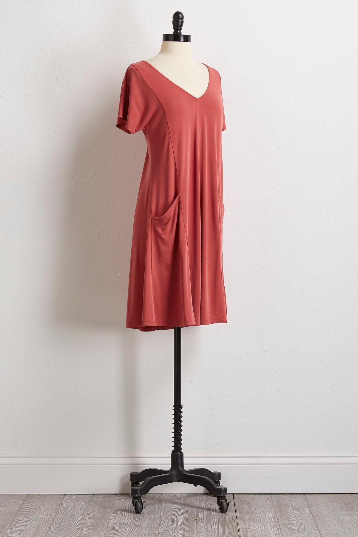 Drop Pocket T- Shirt Dress
