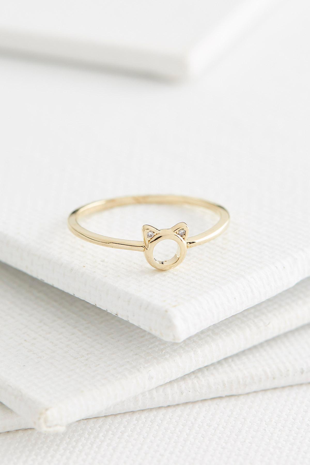 Dainty Cat Ring