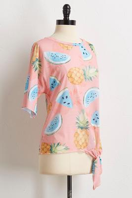 summer fruit knotted tee