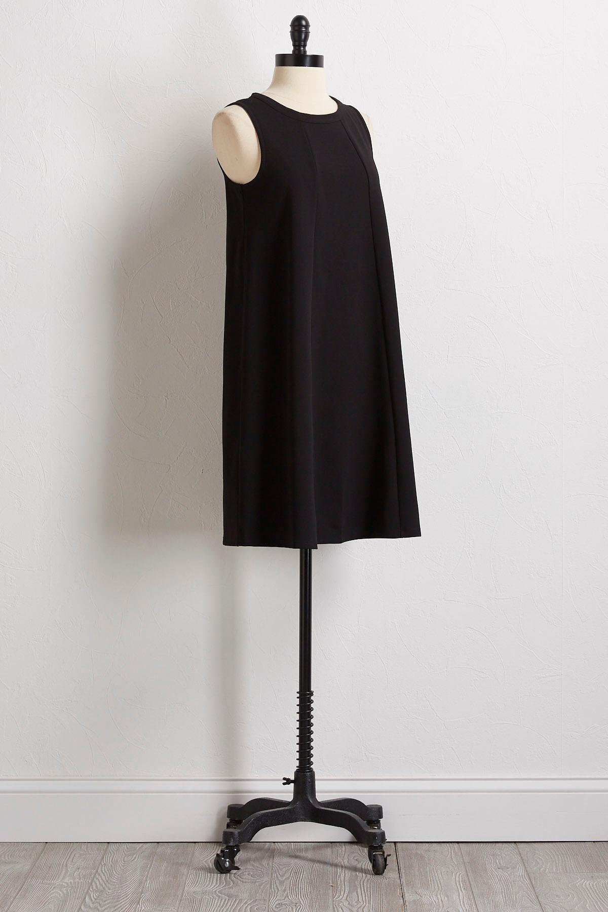 Solid Crepe Shift Dress