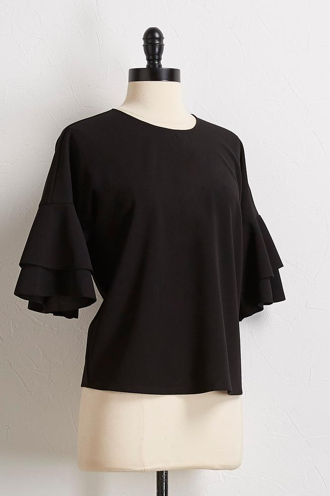 Tiered Bell Sleeve Skimmer Top