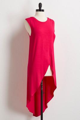high-low tulip hem tunic