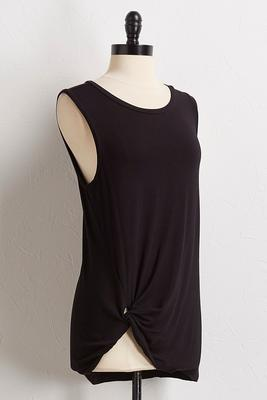 knotted front knit tank
