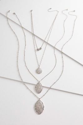 etched paisley pendant necklace set